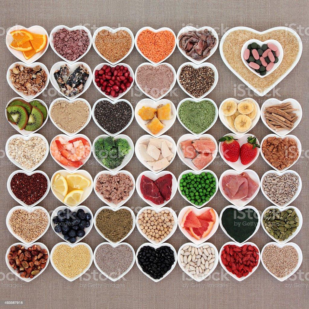 Health Food Sampler stock photo