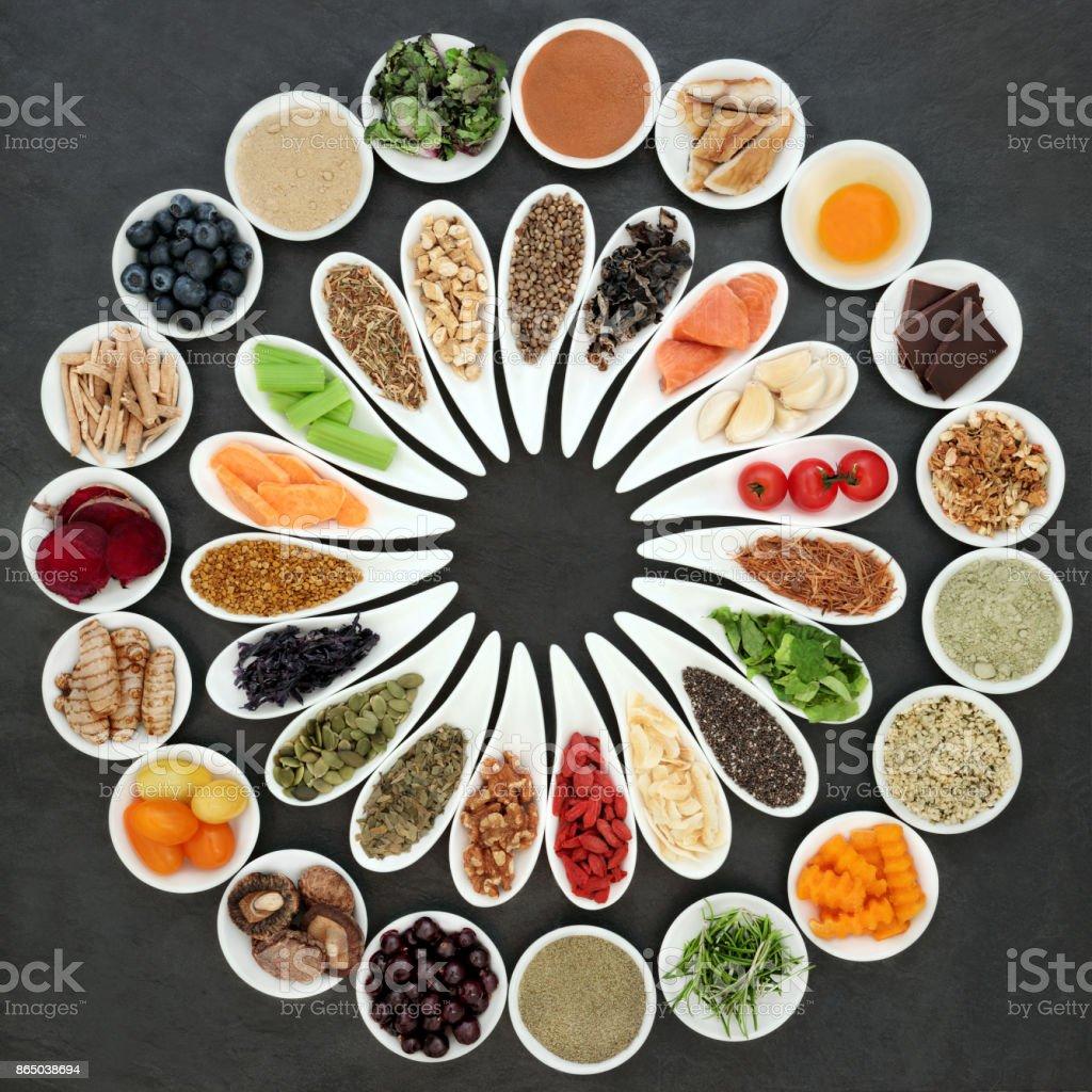 Health Food Wheel stock photo