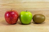 Health fruit  on wood backgroundHealth fruit isolated on white background