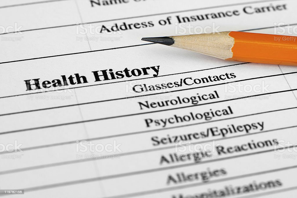 Health history royalty-free stock photo