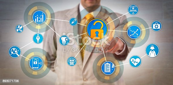 istock Health Information Manager Accessing Data Network 893071706