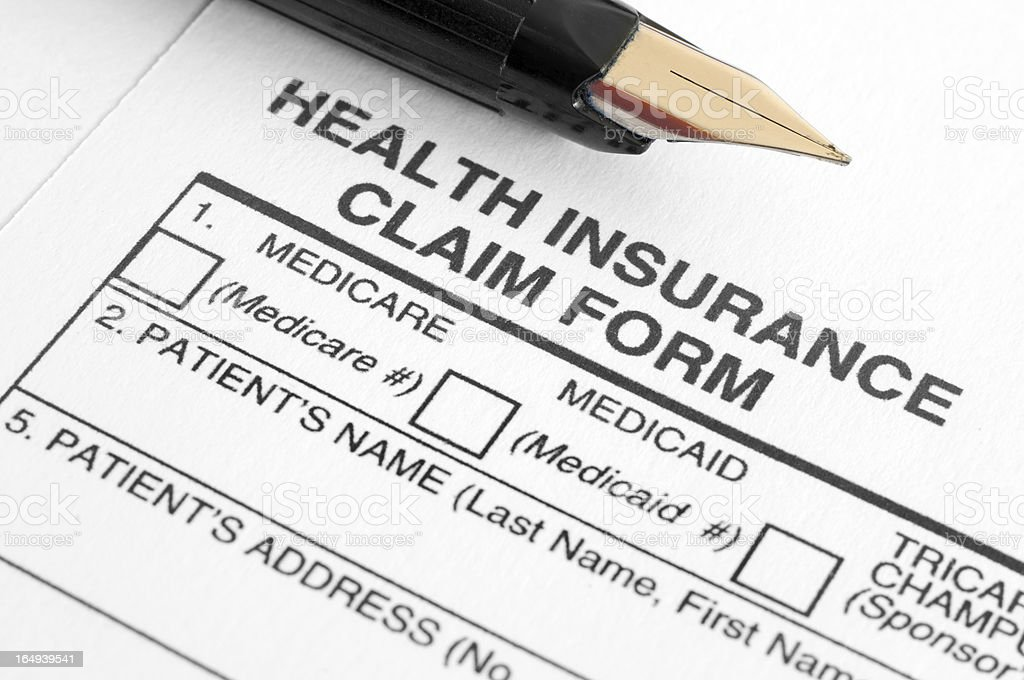 Health Insurance Claim Form stock photo