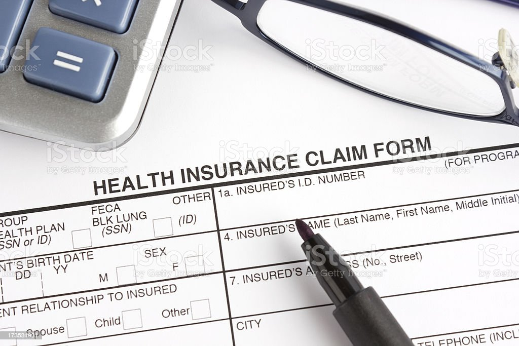Health insurance claim form royalty-free stock photo