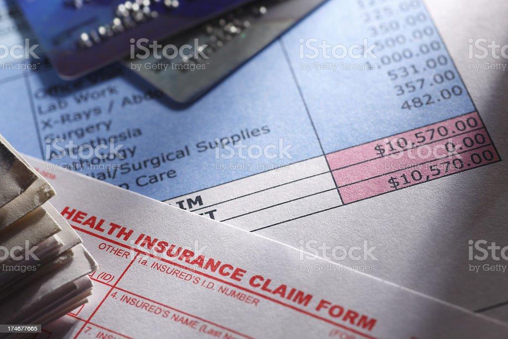 Health Insurance Claim Form royalty-free stock photo