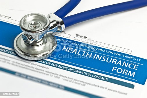 istock Health Insurance Form 155073902