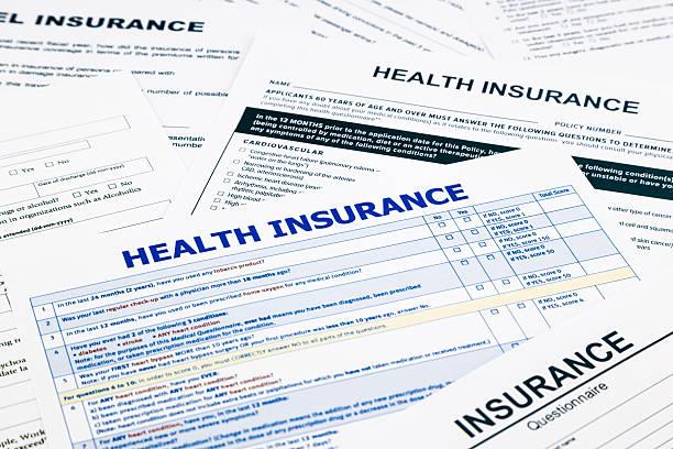 Health insurance form stock photo