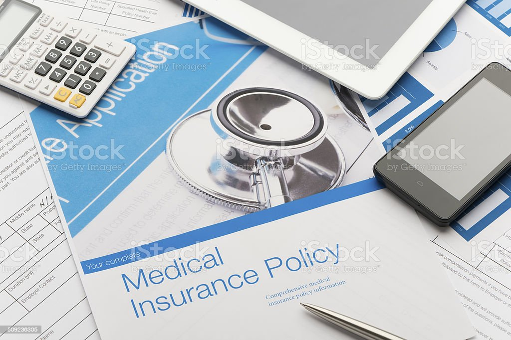 Health Insurance Policy Brochure Stock Photo - Download ...