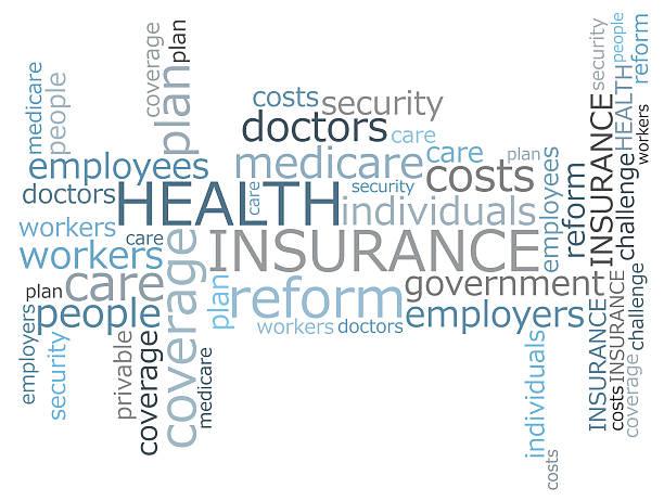 Krankenversicherung word cloud – Foto