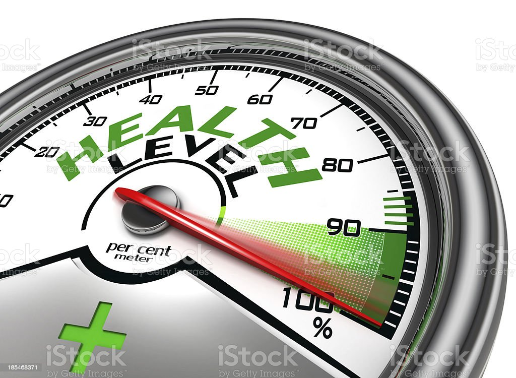health level conceptual meter royalty-free stock photo