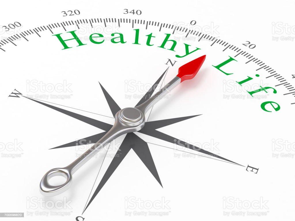 Health Life Compass Direction stock photo