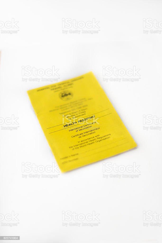Health Passport stock photo
