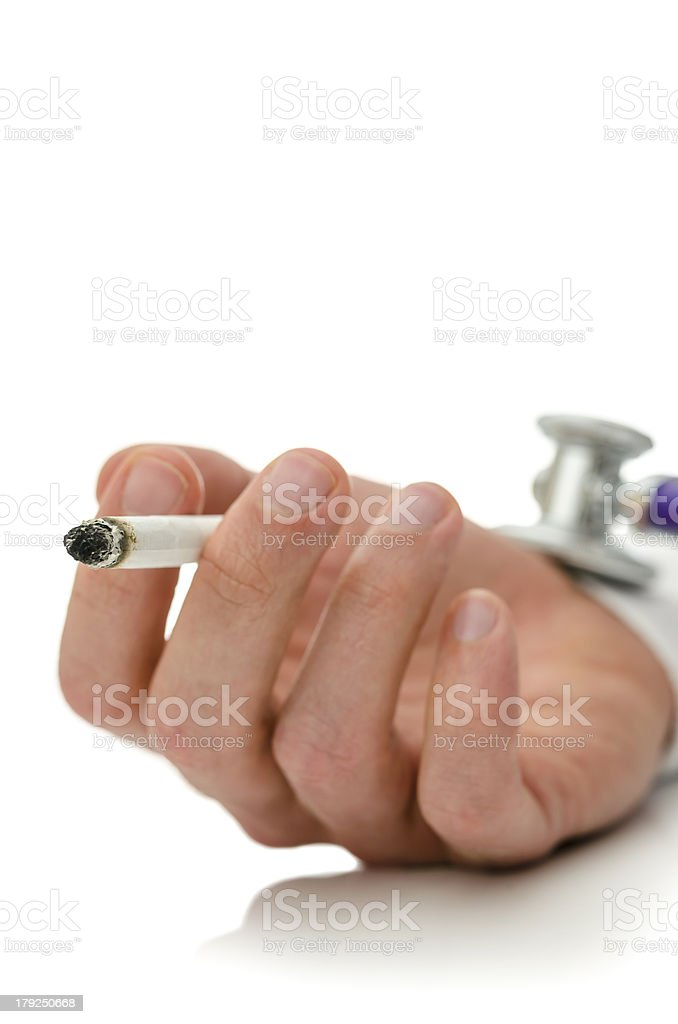 Health risk of smoking royalty-free stock photo