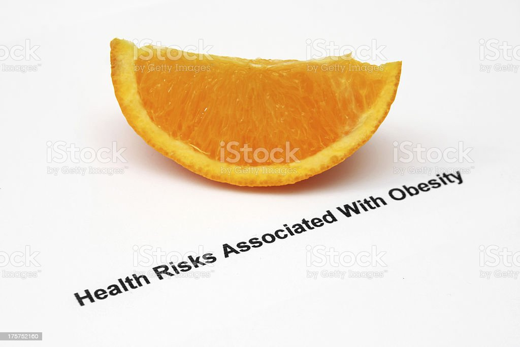 Health risks - obesity stock photo