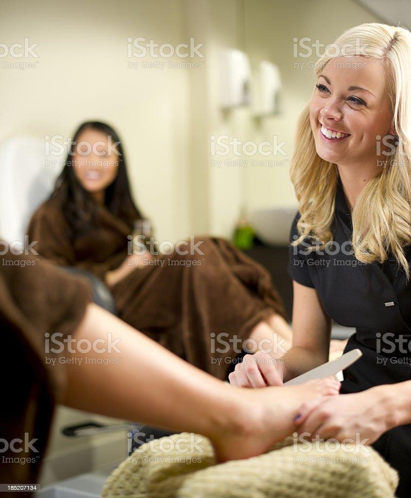 health spa pedicure royalty-free stock photo