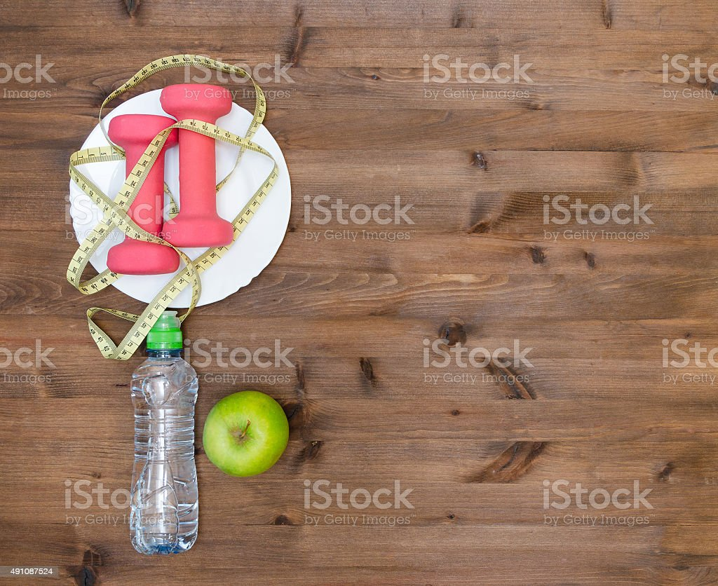 Health  sport and diet concept stock photo