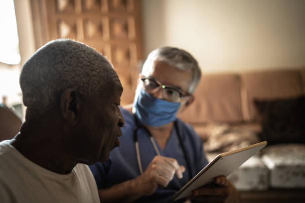 Health visitor and a senior man during home visit using digital picture id1219530769?b=1&k=6&m=1219530769&s=612x612&w=0&h=njsc6m0zaene 5xsmomcrvmsgitnphjd8 fxprg1mce=
