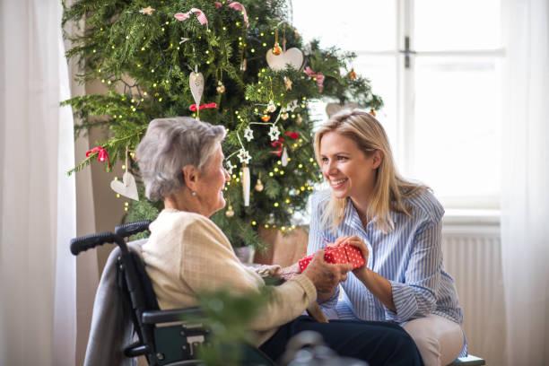 Health visitor and senior woman in wheelchair with a present at home picture id1066098638?b=1&k=6&m=1066098638&s=612x612&w=0&h=eecn7rmbmthuolhggro9oyd3csvghtwybw91xsmht9a=