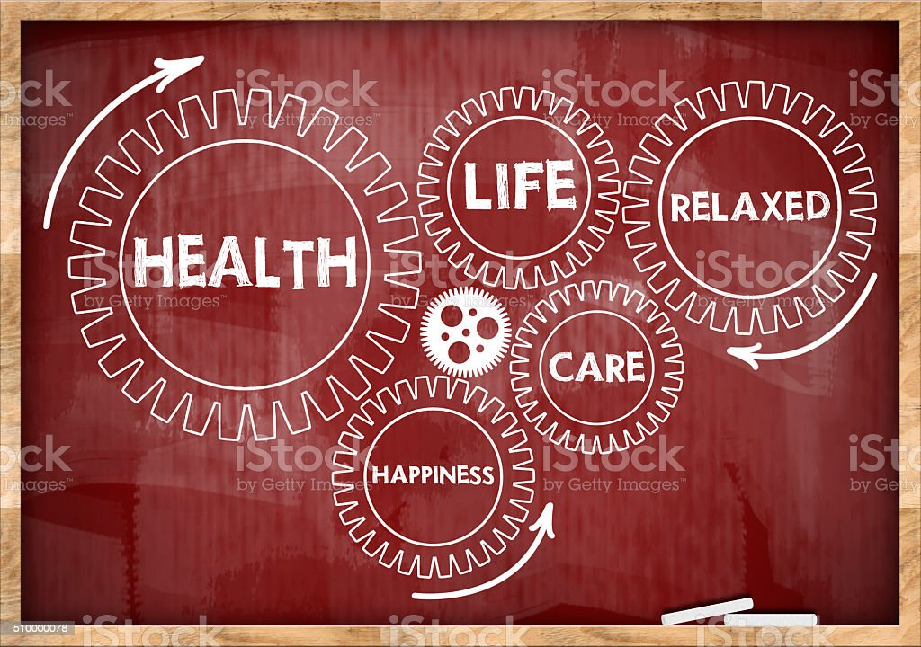 Health wheels / Red board concept (Click for more) stock photo