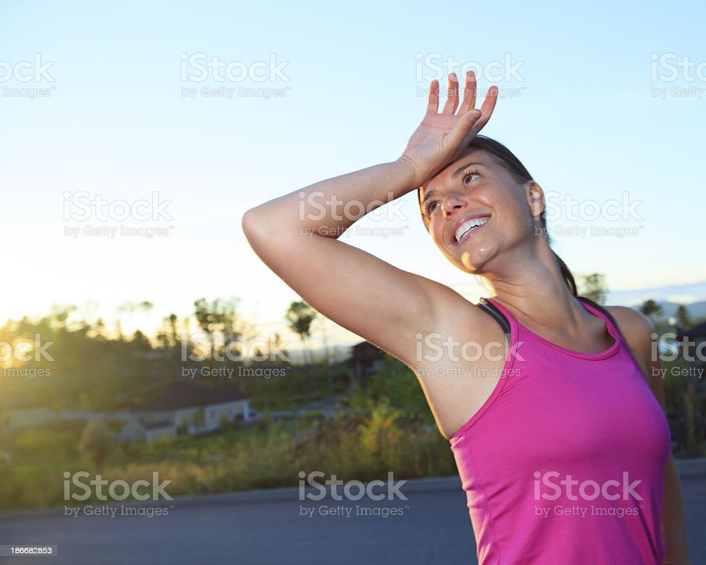 Health Woman - Athlete Effort royalty-free stock photo