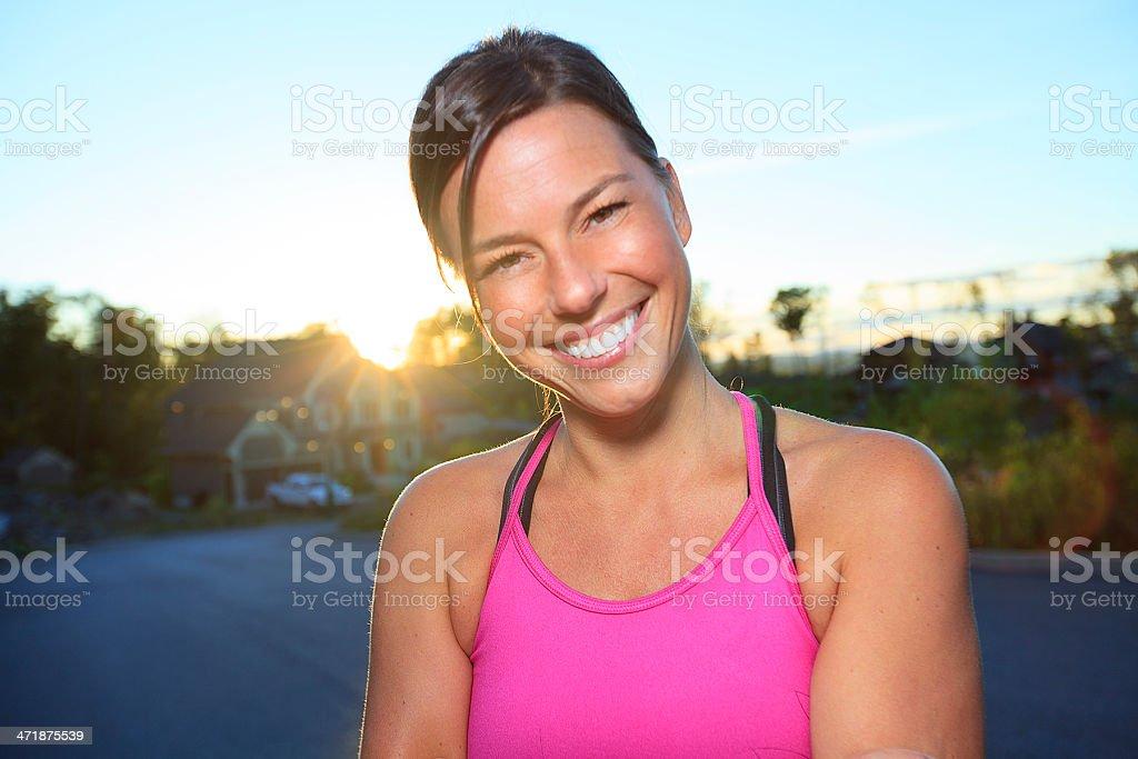 Health Woman - Athlete Portrait royalty-free stock photo
