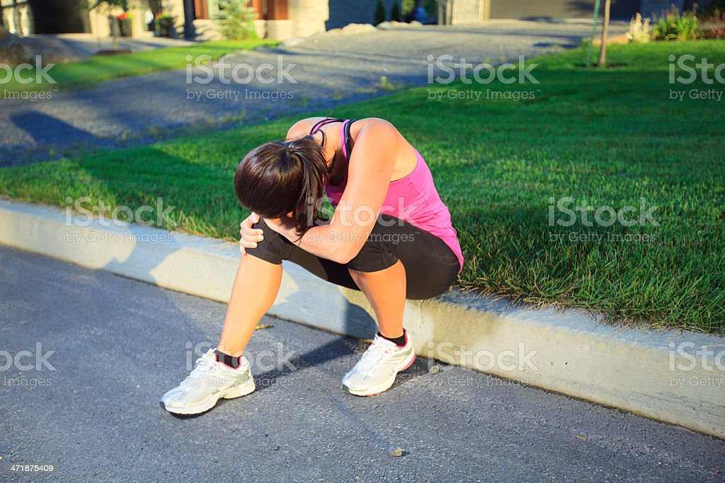 Health Woman - Discourage Jogging royalty-free stock photo