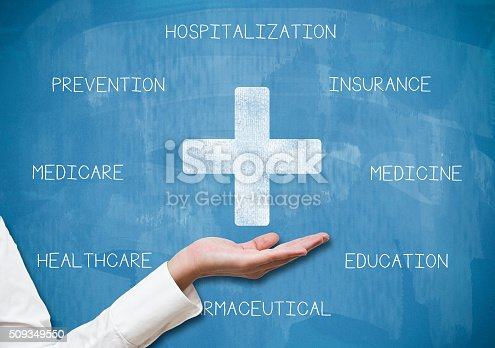 istock Healthare concept / Blue board concept (Click for more) 509349550