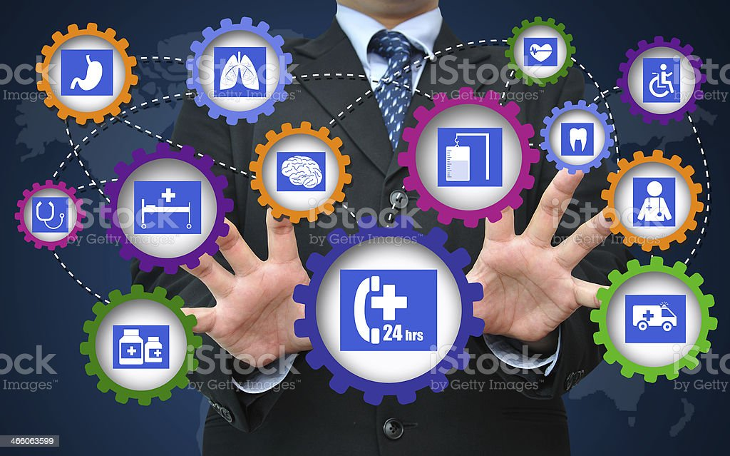 Healthcare and medical business concept royalty-free stock photo
