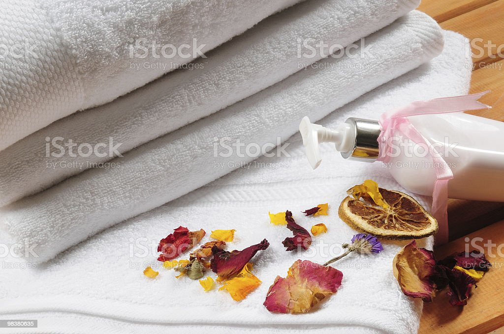 Healthcare and spa objects. royalty-free stock photo