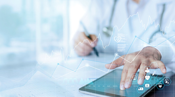 medical science and technology stock photos