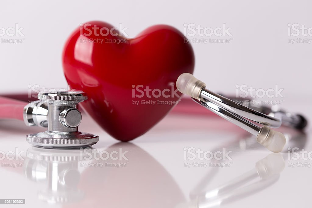 Healthcare Concept: Heart Care - Royalty-free Black Color Stock Photo