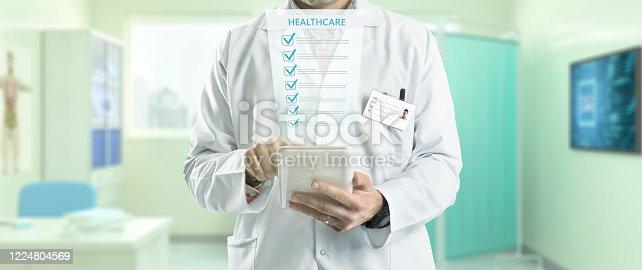 688358418 istock photo Healthcare Digital Signature 1224804569
