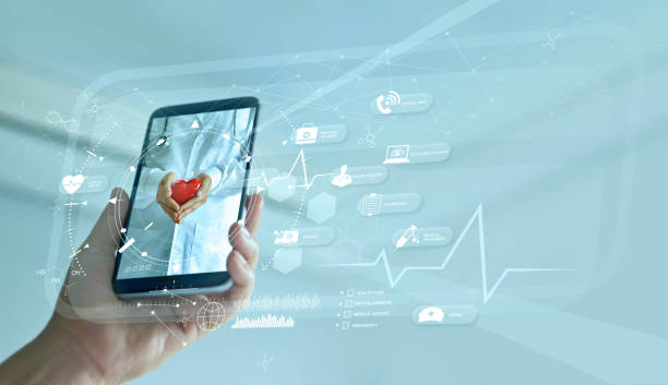 Healthcare, Doctor online and virtual hospital concept, Diagnostics and online medical consultation on smartphone, Communication with patient on network, Innovative and  medical technology. Healthcare, Doctor online and virtual hospital concept, Diagnostics and online medical consultation on smartphone, Communication with patient on network, Innovative and  medical technology. medicine stock pictures, royalty-free photos & images