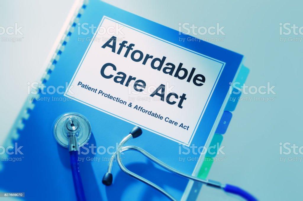 US-Gesundheitswesen Versicherung medizinische Kosten, Schutz der Patienten und bezahlbare Pflege Act Handbuch Buch – Foto