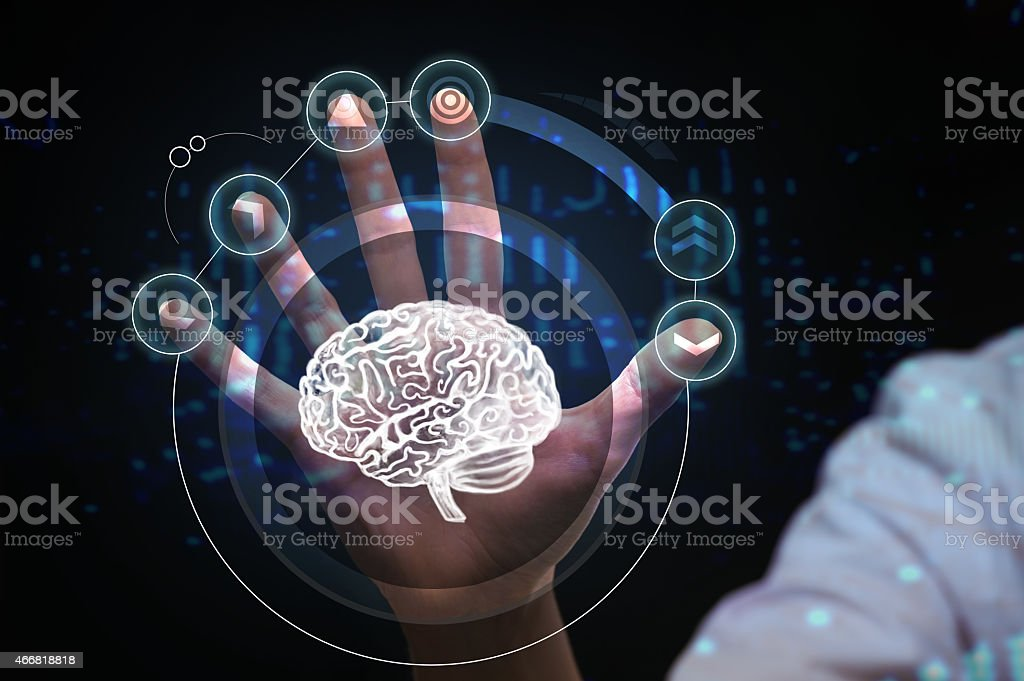 Healthcare, medical and future technology concept stock photo