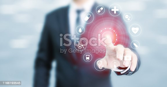 1029077176istockphoto Healthcare medical technology network, Insurance for your health concept 1166193545