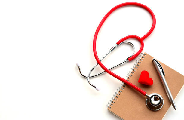 healthcare, medical, treatment, education and Valentine concept. stock photo