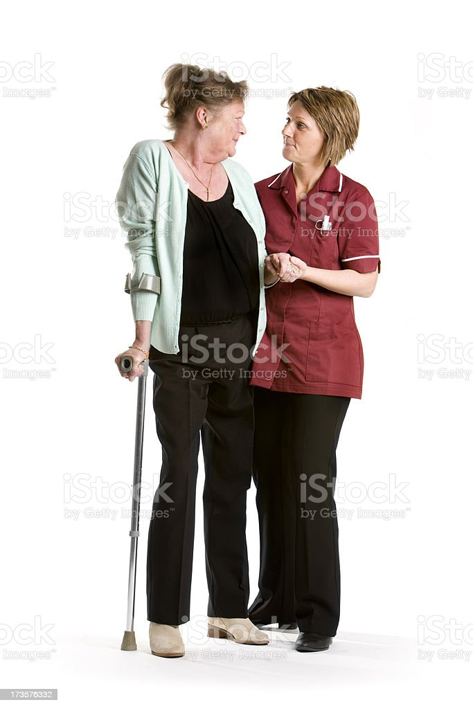 healthcare: on her feet royalty-free stock photo