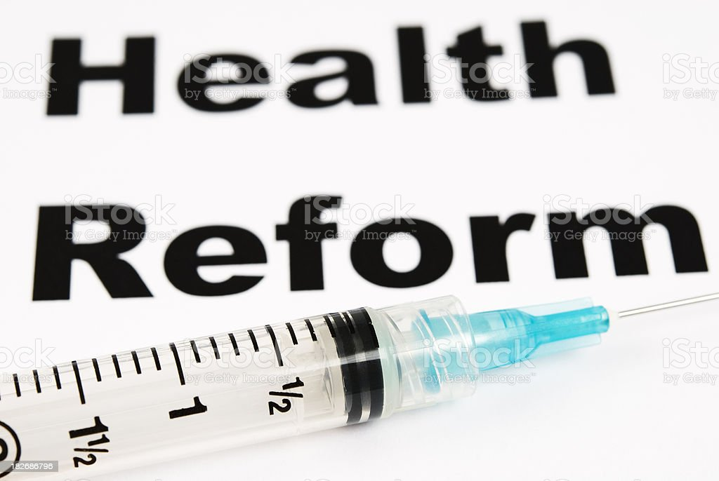 Healthcare Reform - IV royalty-free stock photo