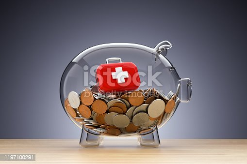 Piggy Bank, Care, Insurance, First aid kit