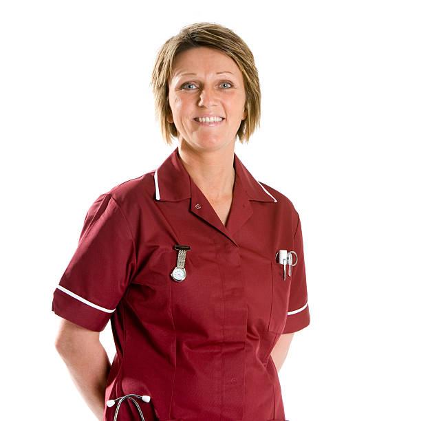Gesundheitswesen: Lächeln, zuversichtlich Team Krankenschwester, Bund-up portrait – Foto