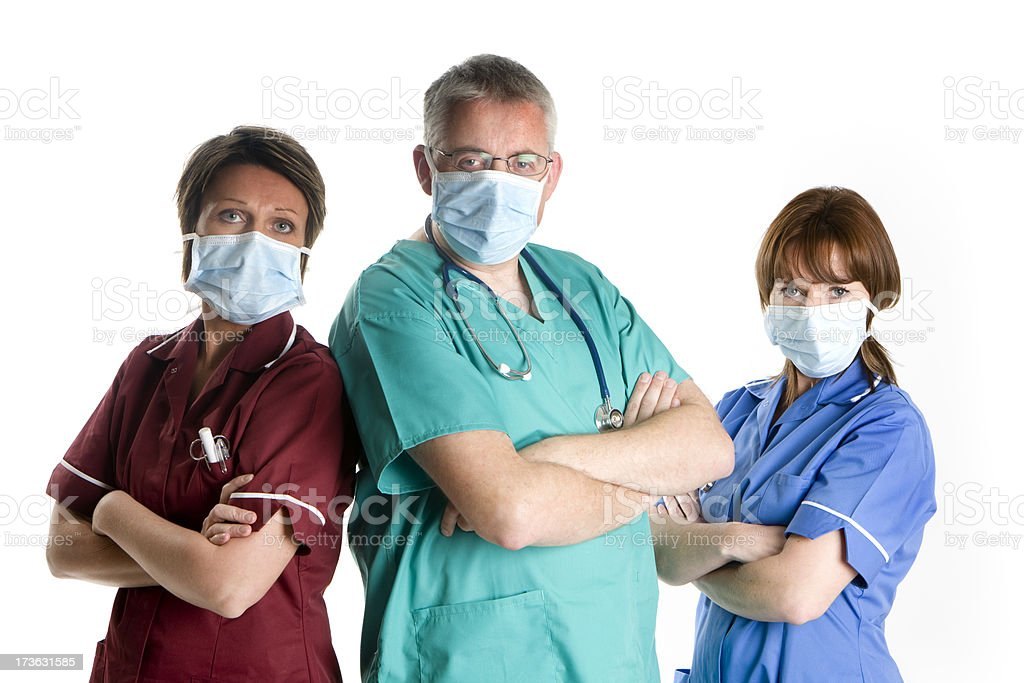 healthcare: surgical team royalty-free stock photo