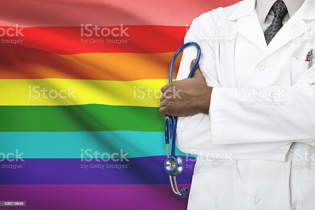 Healthcare system for LGBT. Lesbian, gay, bisexual and transgender people stock photo
