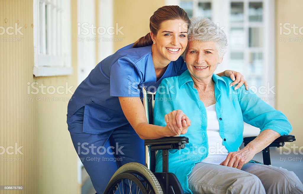 Healthcare that feels like being at home stock photo