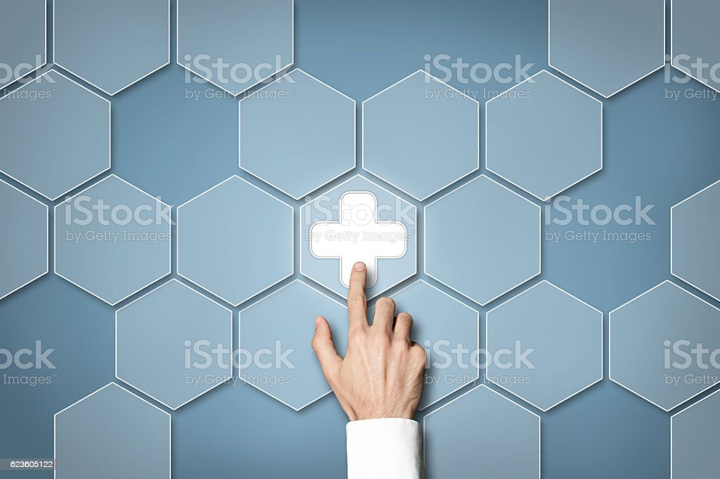 Healthcare / Touch screen concept (Click for more) stock photo