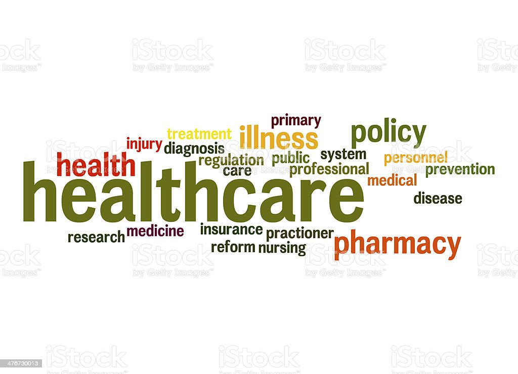 Healthcare word cloud stock photo