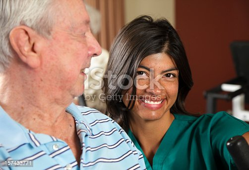istock Healthcare Worker with Senior Citizen Man 157433771