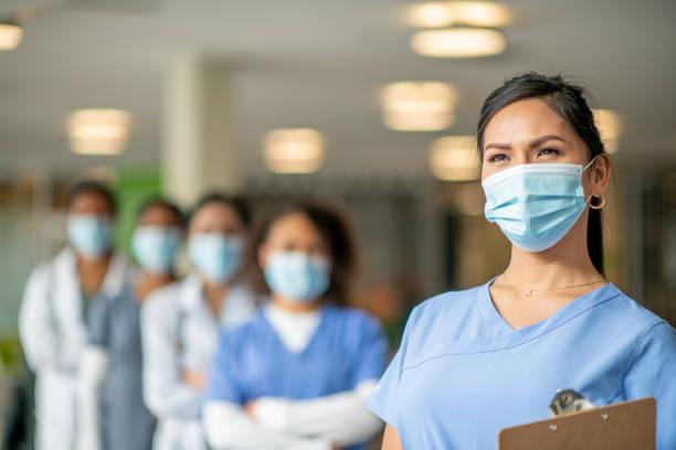 Healthcare workers portrait stock photo
