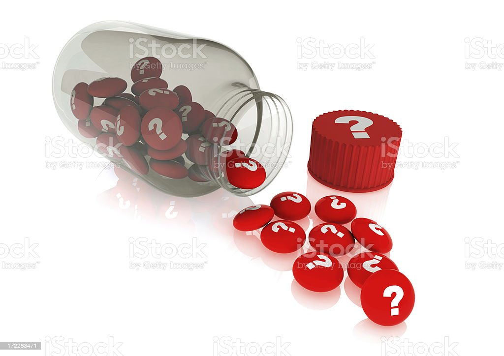 Healthly pills out of the jar royalty-free stock photo