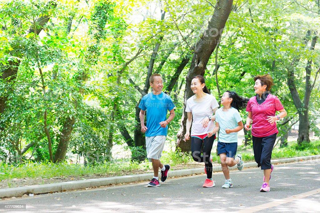 Healthy Active Family stock photo