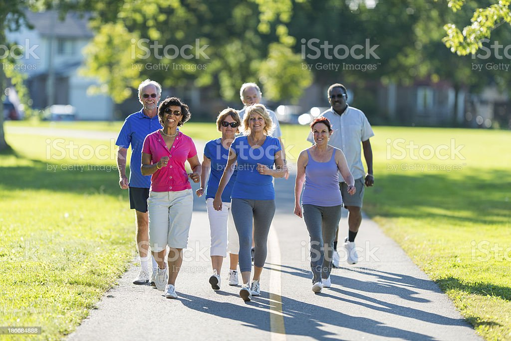 Healthy Active Seniors stock photo